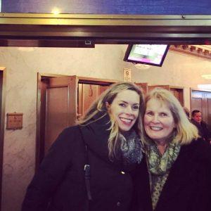 Sheila Walsh and mom